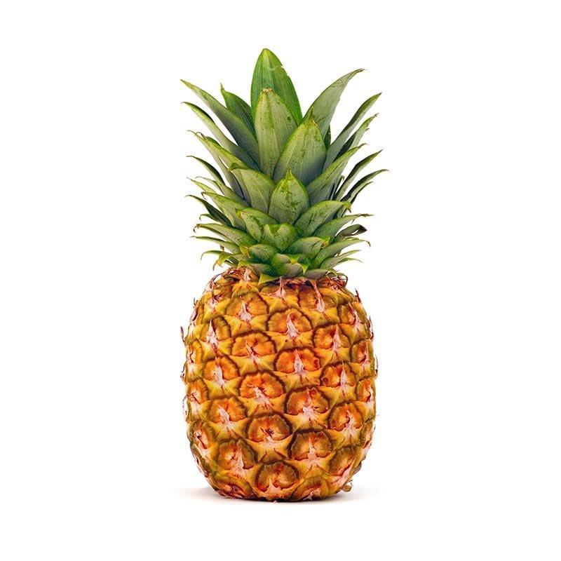 Желтый ананас ароматный, спелый, сочный и сладкий