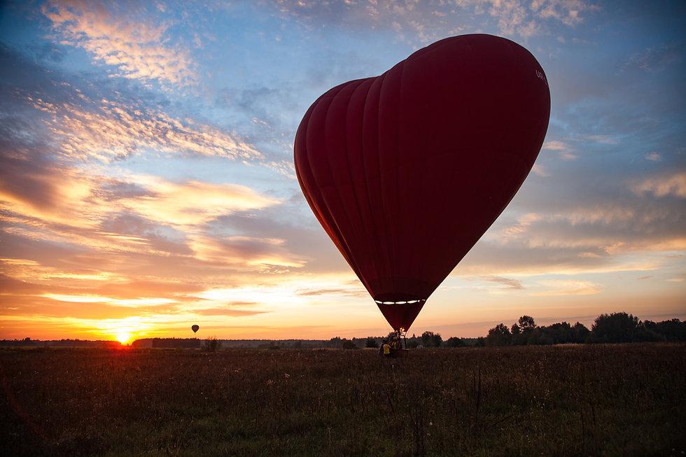 Свидание с полетом на воздушном шаре  в