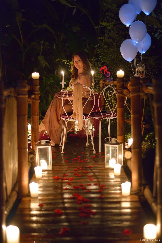 Романтический ужин в Тропическом саду от сервиса романтики Альтечо