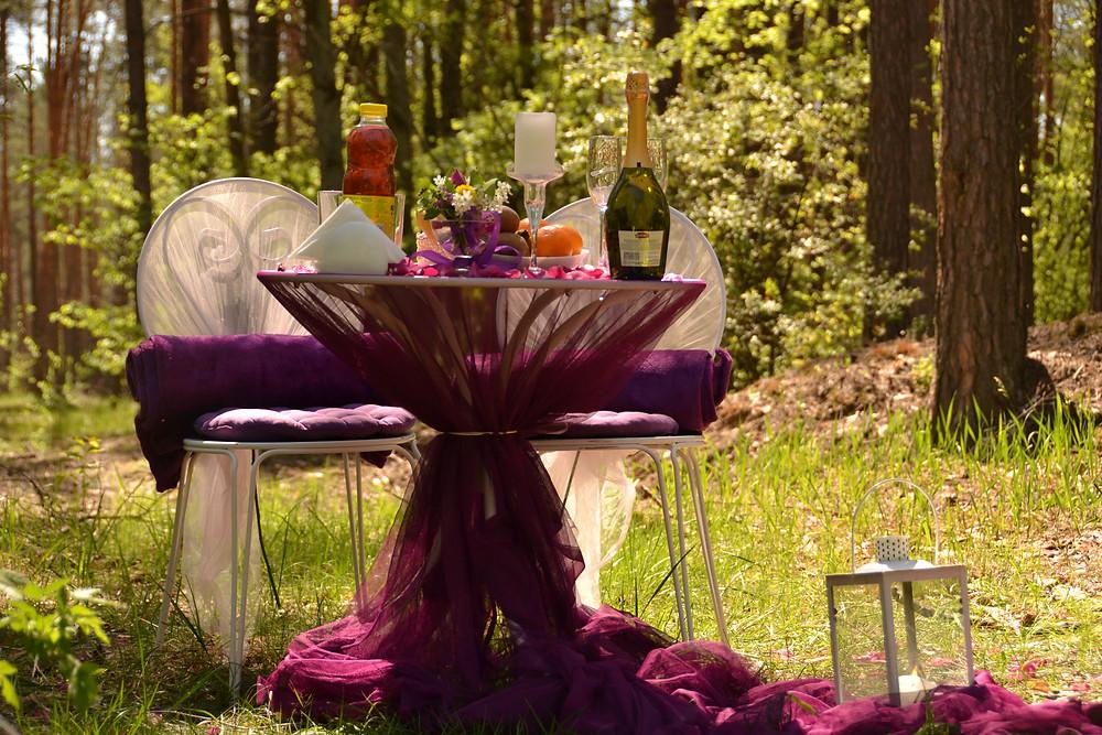 Романтический ужин в лесу с конной прогулкой, Киев, Сервис романтики Альтечо
