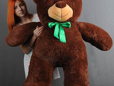 Шоколадный Плюшевый мишка Веня 1м 30 см на подарок девушке