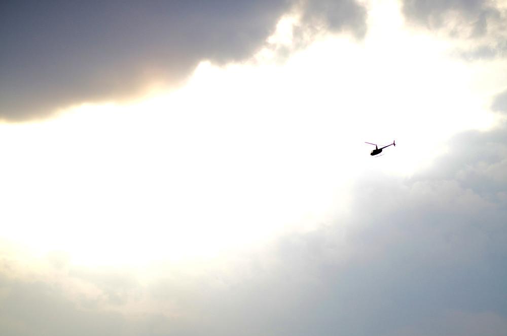 Прогулка на вертолёте над Киевом