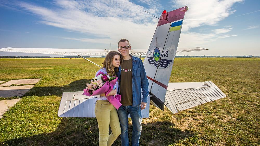 Романтика в небе на самолете, Киев, Сервис романтики Альтечо