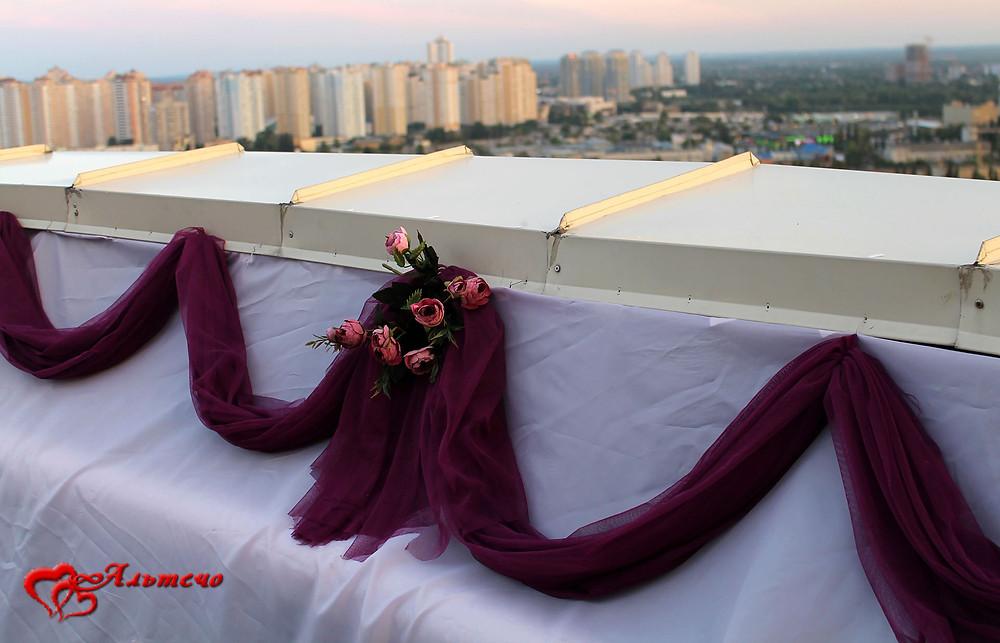 Декор свидания на крыше