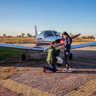 Предложение в небе на самолете, Киев, Ал