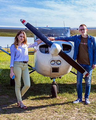 Романтический полет на самолёте для двоих в Киеве