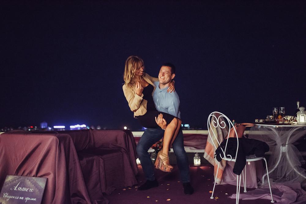 Романтический ужин для двоих на крыше, Киев
