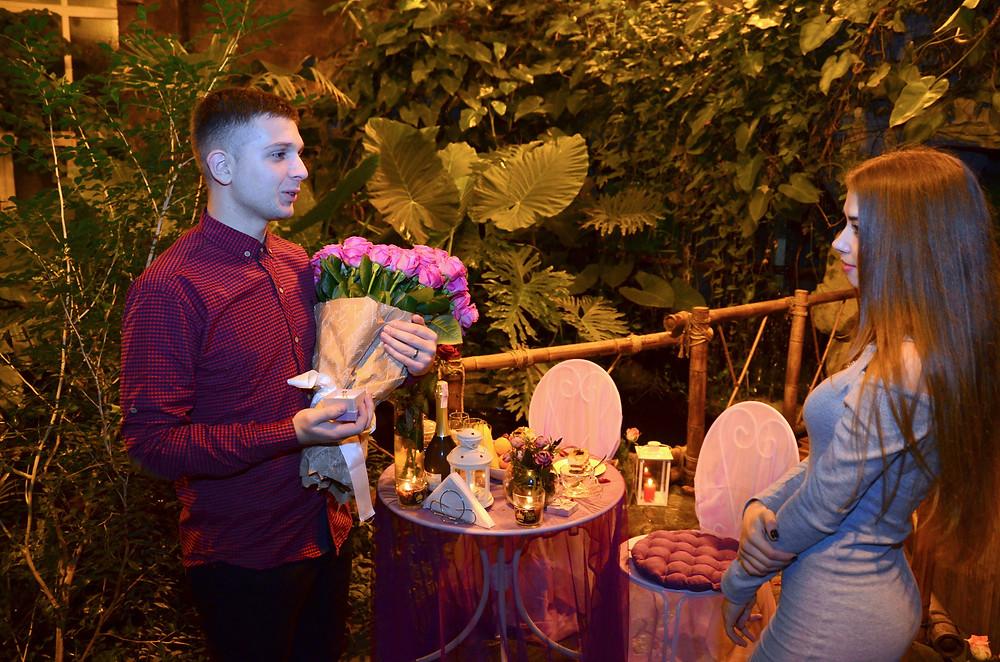 Романтический ужин для двоих в тропической оранжерее ботанического сада, Киев, Альтечо