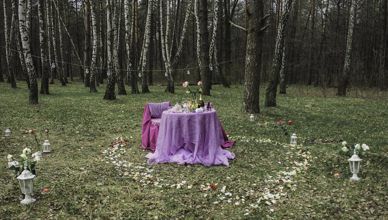 Альтечо, романтический ужин в лесу (12)