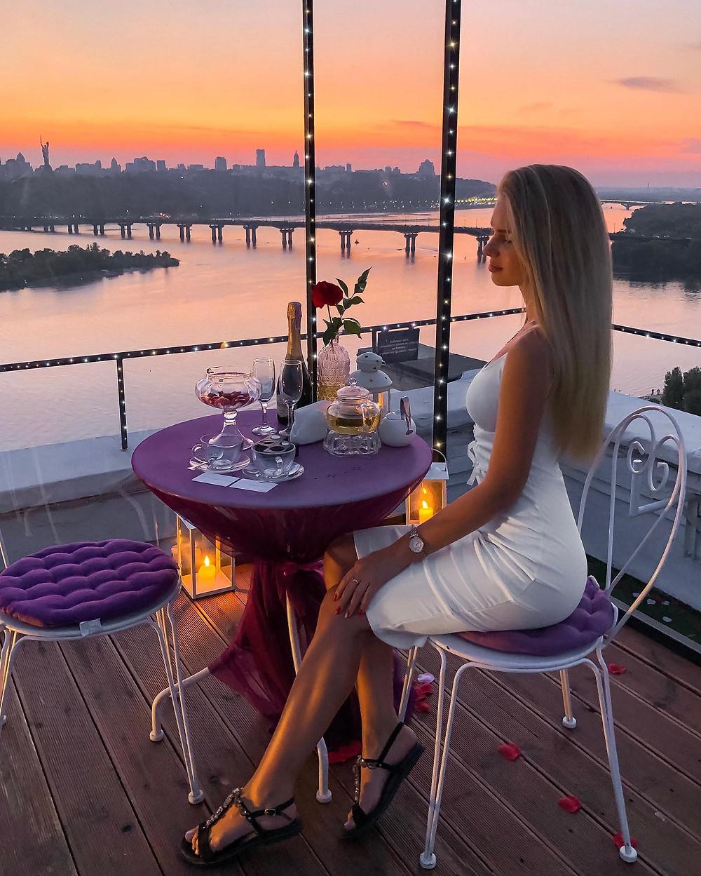 Свидание на крыше, Киев, закат