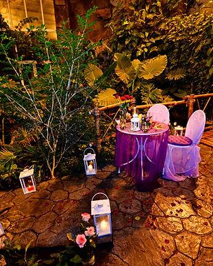 Романтический ужин в оранжерее в ботаническом саду, Киев