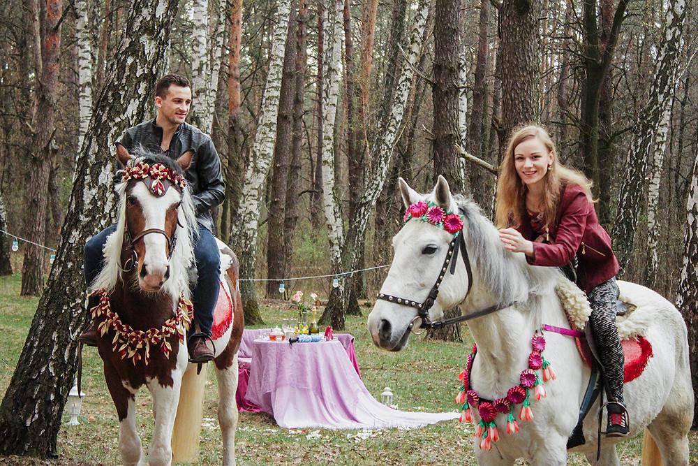 Альтечо, романтический ужин в лесу с прогулкой на лошадях 13