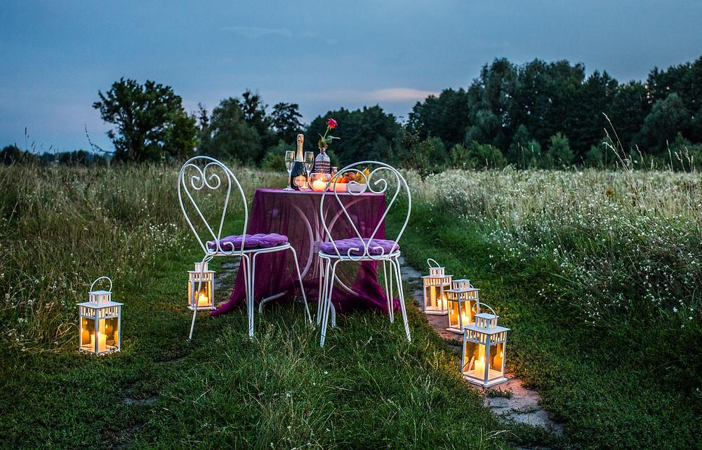 Романтический ужин на природе, Киев, Альтечо