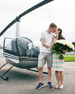 Романтический полет на вертолете в Киеве для двоих