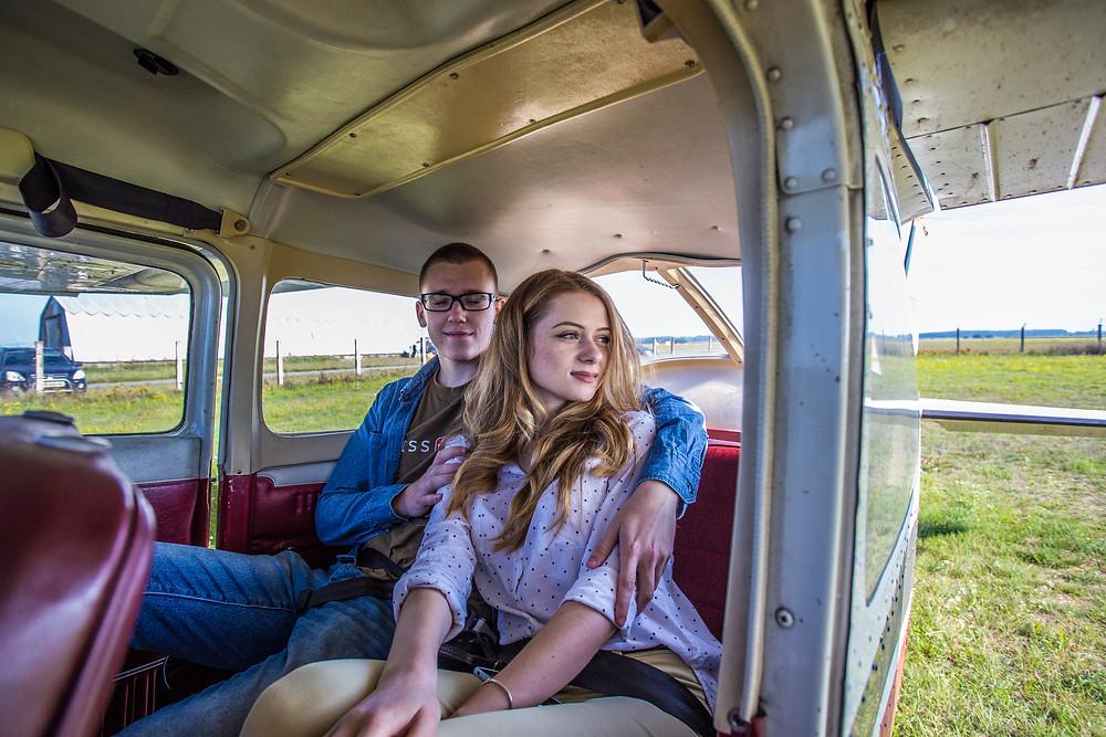 Влюбленная пара в самолете, Киев, Альтечо