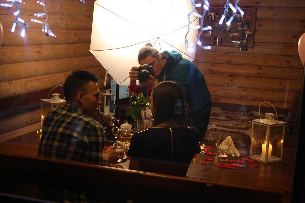 Фотосессия романтического ужина, Киев, Альтечо