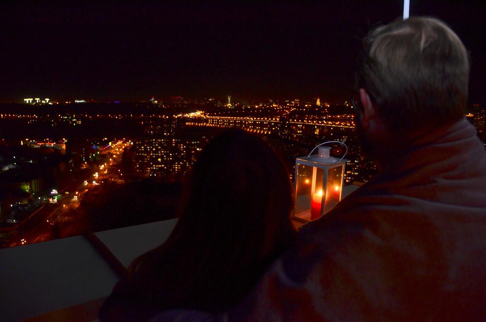Свидание на крыше, Вид с крыши, Киев, Альтечо