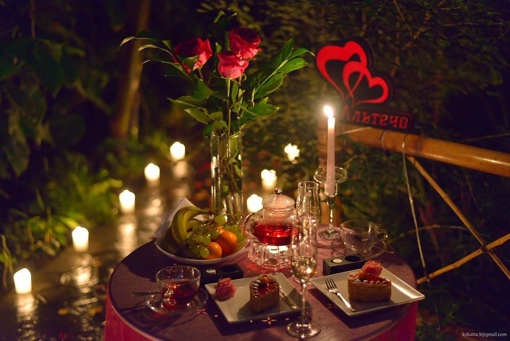 Романтический ужин в Тропиках от сервиса романтики Альтечо