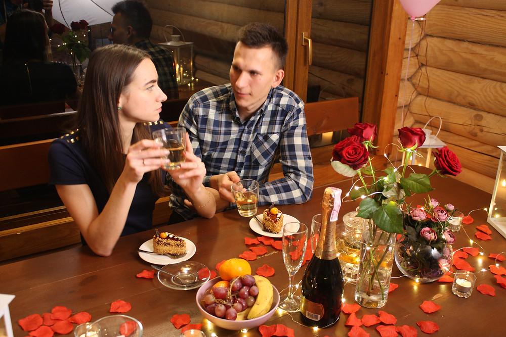 Романтический ужин  в горячей воде, Киев, Альтечо
