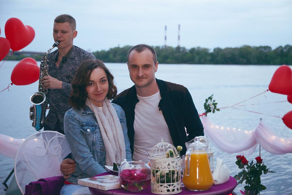 Романтический ужин на плоту посреди залива, Киев, Альтечо 1