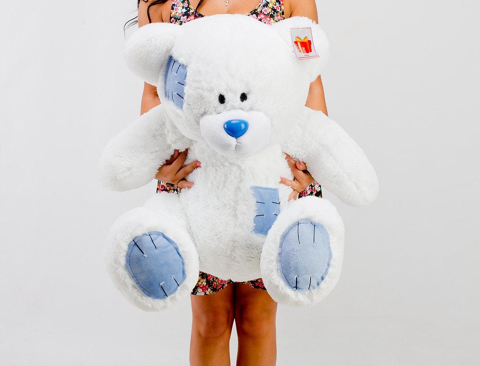 Белый Плюшевый мишка Гриша 1м на подарок девушке