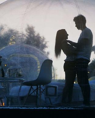 Романтический ужин в розрачной сфере под звездами, Киев