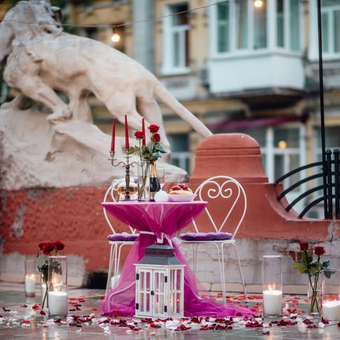 Романтический ужин на террасе Малого Драматического Театра