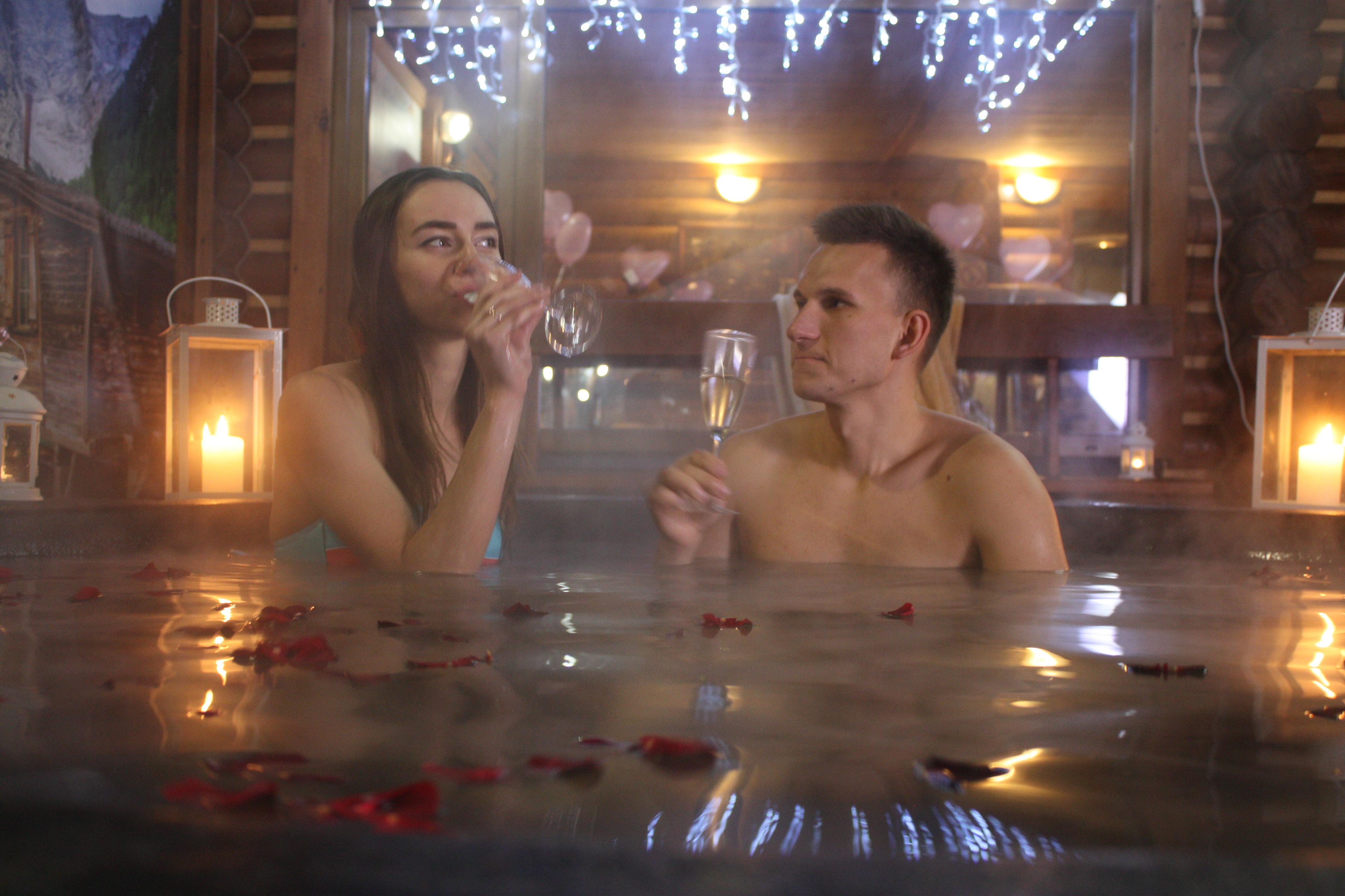 Романтический ужин в горячем чане Афродиты под открытым небом от сервиса романтики Альтечо (12)