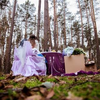 Романтический ужин в лесу с прогулкой на