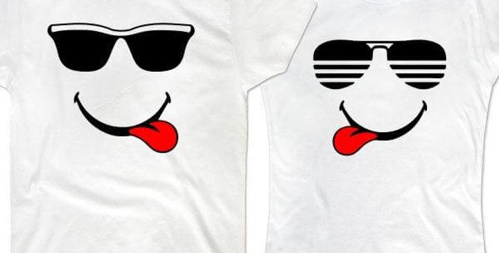 Парные футболки Очки