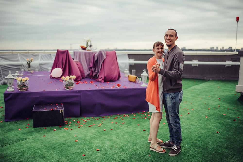 Танец во время свидания на крыше, Альтечо