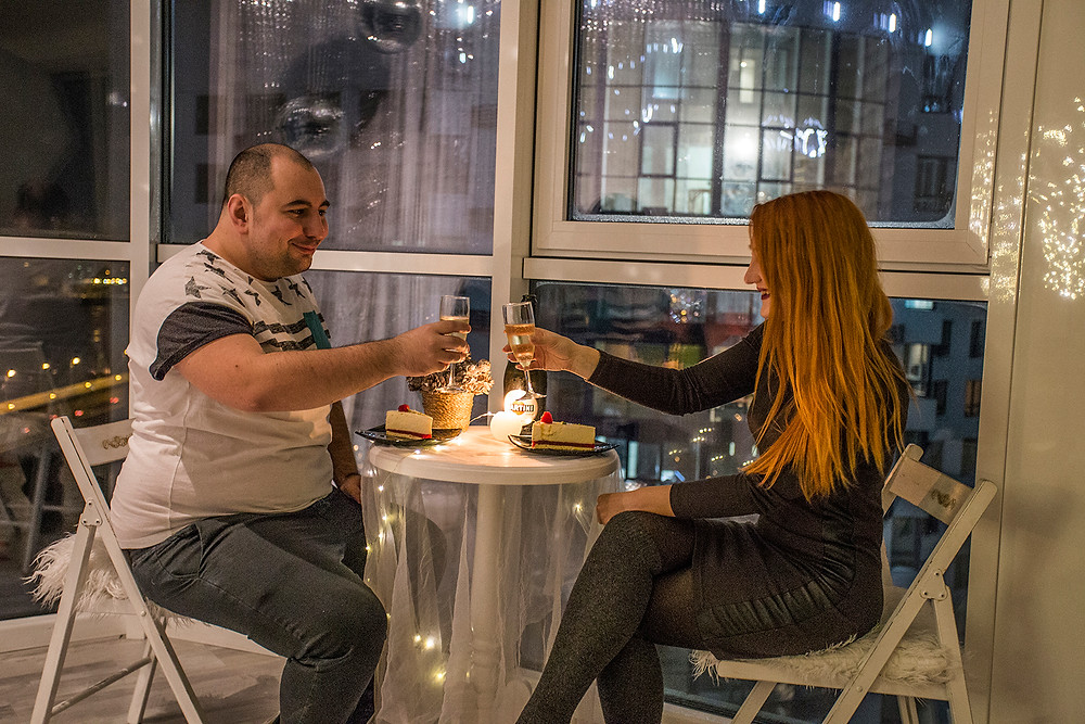 Романтический ужин в панорамном ресторане для двоих