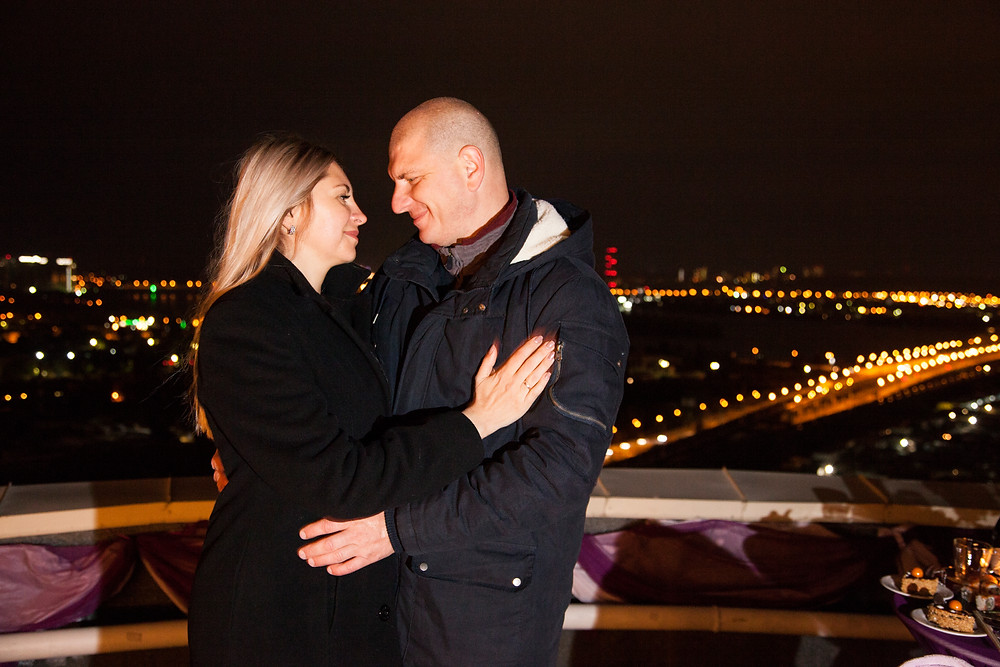 Ночной Киев с крыши