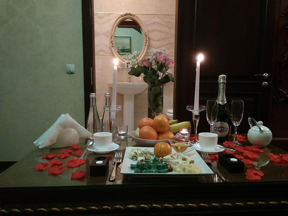 Романтический ужин от сервиса романтики Альтечо, Киев