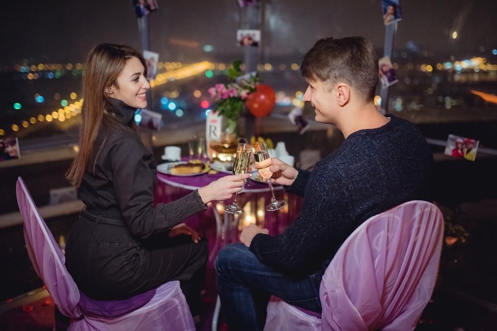 Свидание на крыше в День святого Валентина от сервиса романтики Альтечо, Киев