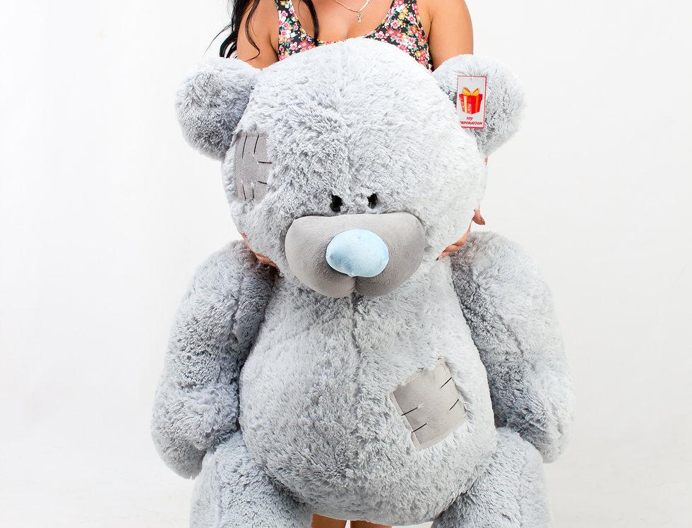 Серый Плюшевый мишка Гриша 1м 50 см на подарок девушке