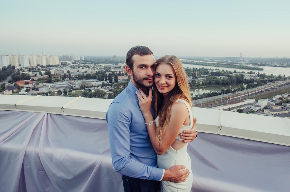Вид на Киев с крыши