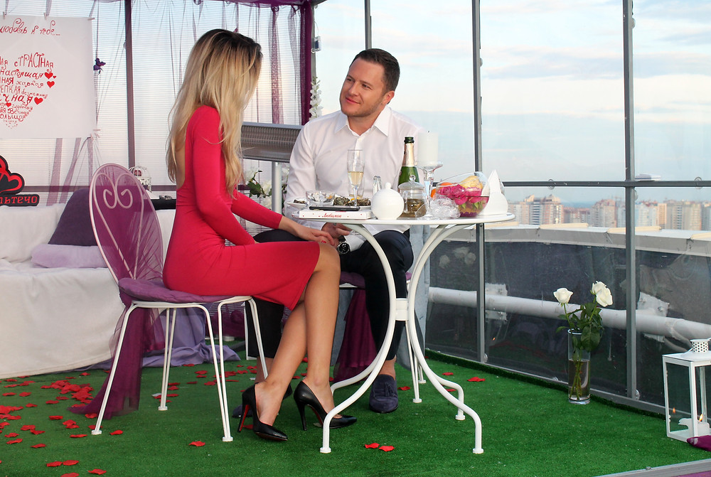Ужин на крыше, Киев, сервис романтики Альтечо