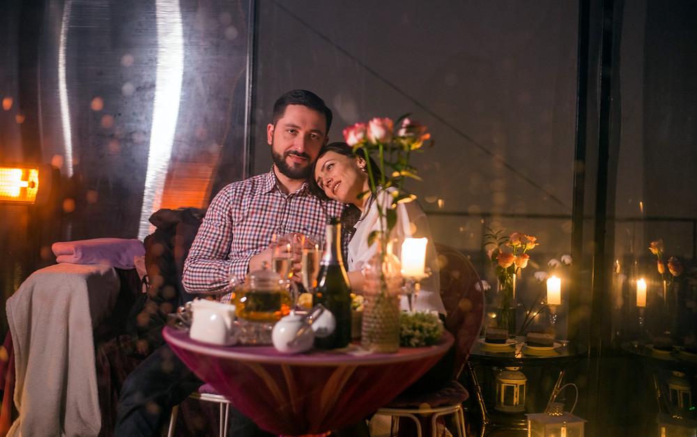 романтический ужин на крыше, Киев