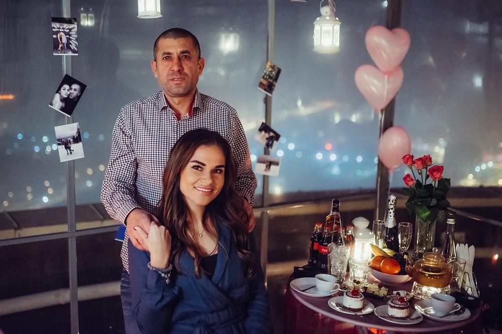 романтический ужин для двоих на крыше, Киев, Альтечо