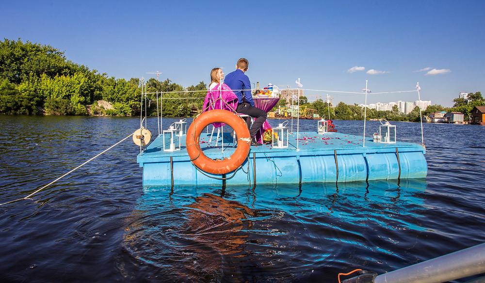 Оригинальное свидание на плоту посреди залива, Киев, Сервис романтики Альтечо