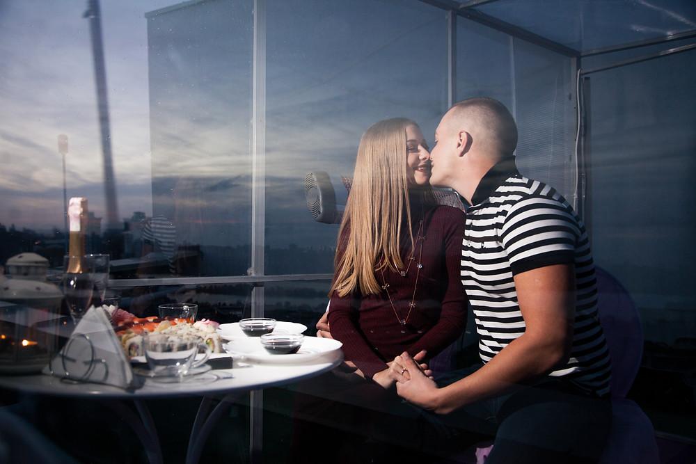 Ресторан на крыше для двоих