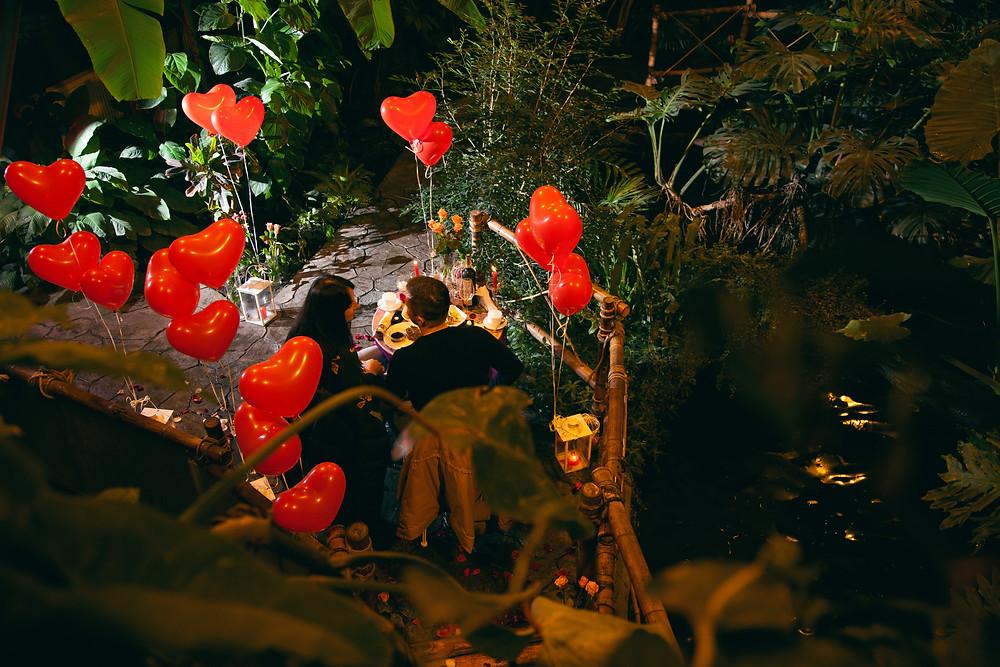 Романтика в Джунглях у водопада от сервиса романтики Альтечо