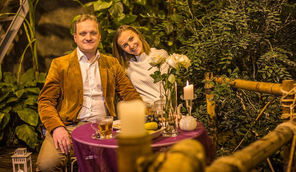 Романтический ужин в оранжерее, Киев