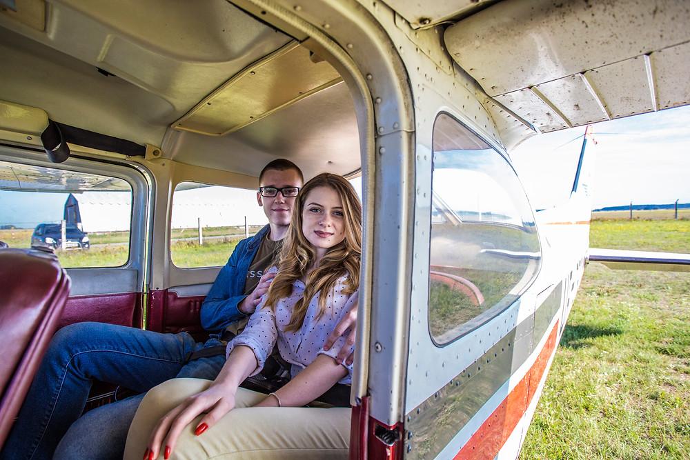 Сделать предложение руки и сердца в небе на самолете, Киев, Альтечо