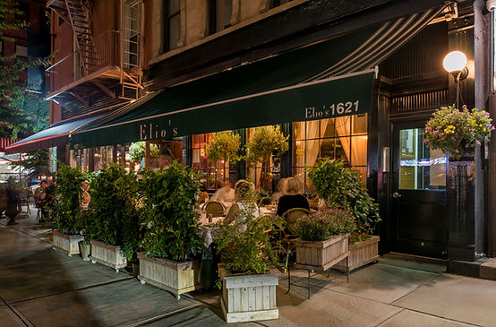 Elio's sidewalk cafe, for outdoor dining.
