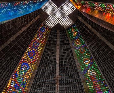 Binnenland van de kerk
