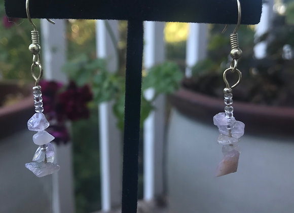 Stacked Crystal Drop Earrings