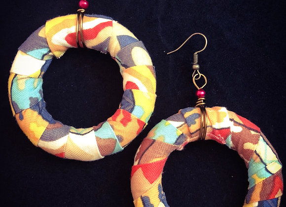 African Fabric Hoops