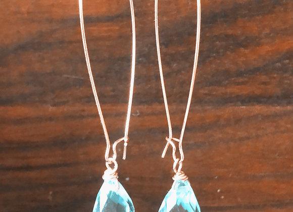 14k gld Aquamarine Drops